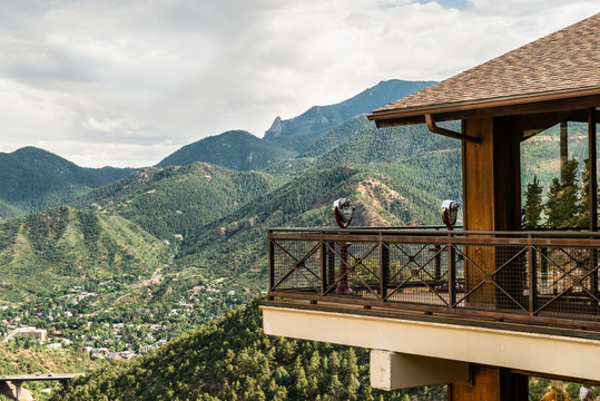Viewfinders overlooking Williams Canyon from Cave of the Winds in Manitou Springs, Colorado