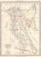 1837, Malte-Brun Map of Ancient Egypt, Nubia, Sudan and Abyssinia, Ethiopia