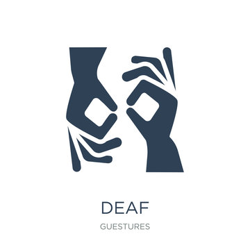 deaf icon vector on white background, deaf trendy filled icons f