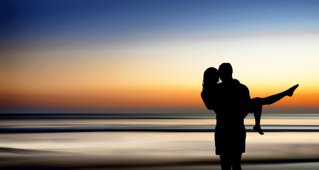 happiness and romantic Scene of love couples partners.