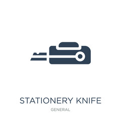 stationery knife icon vector on white background, stationery kni