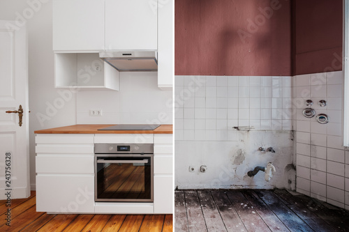 Swell Built In Kitchen Before And After Restoration Renovation Best Image Libraries Thycampuscom