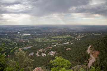 Storm over Colorado Springs, Colorado