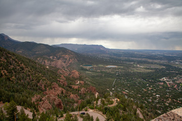 View of Colorado Springs from Cheyenne Mountain