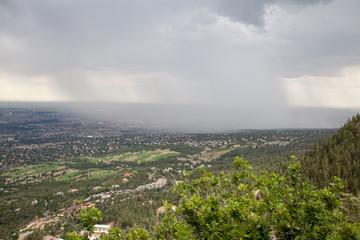 Thunderstorm over Colorado Springs, Colorado
