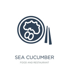 sea cucumber icon vector on white background, sea cucumber trend