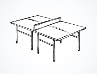 Tennis table. Vector drawing