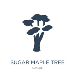 sugar maple tree icon vector on white background, sugar maple tr