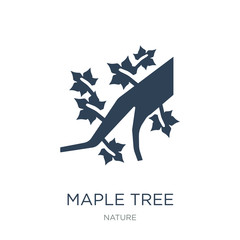 maple tree icon vector on white background, maple tree trendy fi