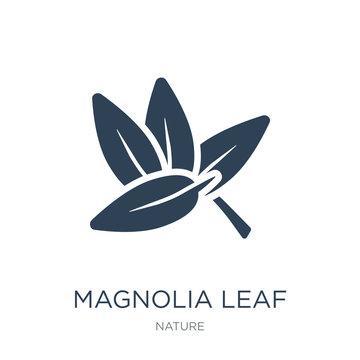 magnolia leaf icon vector on white background, magnolia leaf tre