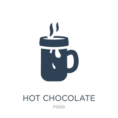 hot chocolate icon vector on white background, hot chocolate tre