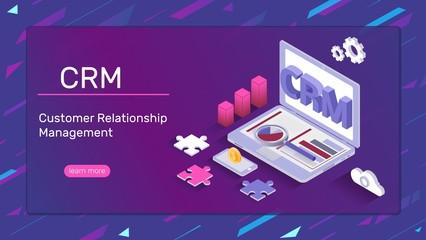 Crm system banner - customer relationship management