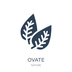 ovate icon vector on white background, ovate trendy filled icons