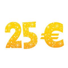 25 Euro sign icon symbol