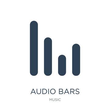 audio bars icon vector on white background, audio bars trendy fi