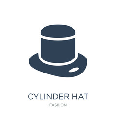 848cd2eeace65 cylinder hat icon vector on white background