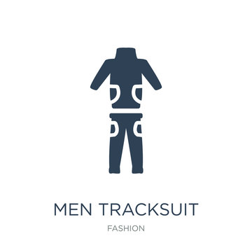 men tracksuit icon vector on white background, men tracksuit tre