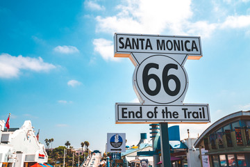 Canvas Prints Route 66 Los Angeles, USA. January 15, 2019.