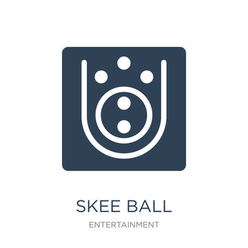 skee ball icon vector on white background, skee ball trendy fill