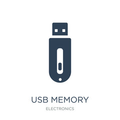 usb memory icon vector on white background, usb memory trendy fi