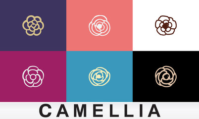 eps Vector image: Logo material camellia