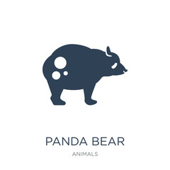 panda bear icon vector on white background, panda bear trendy fi