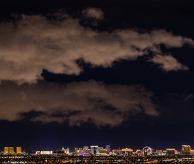 Vegas Cloudy Night