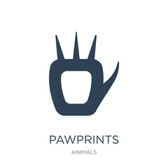 pawprints icon vector on white background, pawprints trendy fill