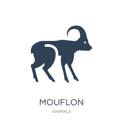 mouflon icon vector on white background, mouflon trendy filled i