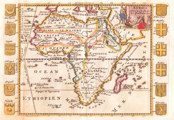 1710, De La Feuille Map of Africa