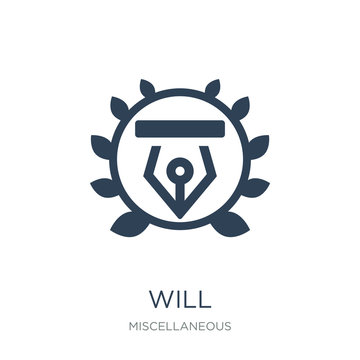 will icon vector on white background, will trendy filled icons f