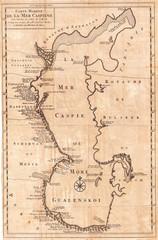 1730, Van Verden Map of the Caspian Sea