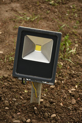 Single Outdoor  Waterproof RGB LED Floodlight,spotlight, in grass