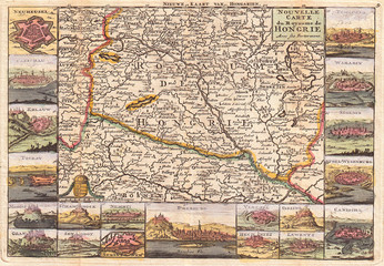 1747, La Feuille Map of Hungary
