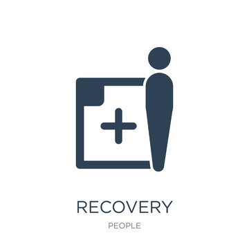 recovery icon vector on white background, recovery trendy filled icons from People collection, recovery vector illustration
