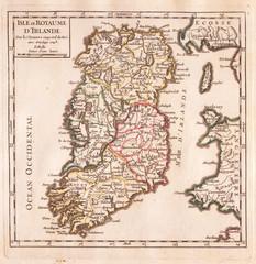 1748, Vaugondy Map of Ireland