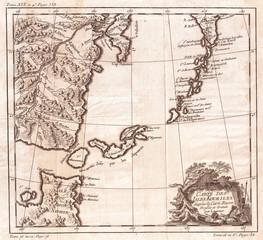 1750, Bellin Map of the Kuril Islands
