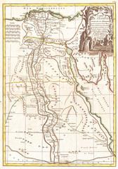 Old Map of Egypt, Rigobert Bonne 1762