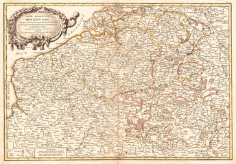 1771, Janvier Map of Belgium and Luxembourg