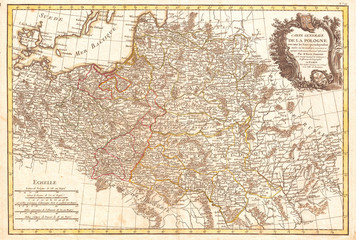 1771, Zannoni Map of Poland and Lithuania