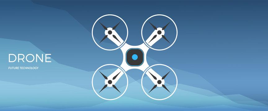 Modern robotic vector illustration with stylish smart robot drone