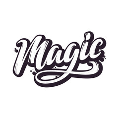 Magic. Hand Drawn Lettering Style.