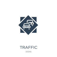 traffic icon vector on white background, traffic trendy filled icons from Signs collection, traffic vector illustration