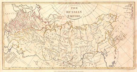 1799, Clement Cruttwell Map of Russian Empire