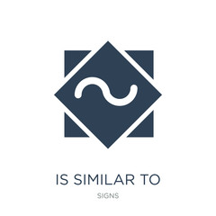 is similar to icon vector on white background, is similar to trendy filled icons from Signs collection, is similar to vector illustration