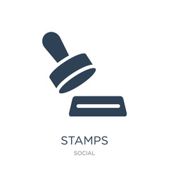 stamps icon vector on white background, stamps trendy filled icons from Social collection, stamps vector illustration