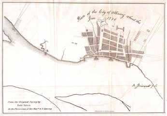1820, Yates Map of Albany circa 1770