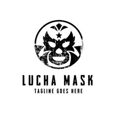 Lucha Mask Logo concept. Creative Minimal design template. Symbol for Corporate Business Identity. Creative Vector element