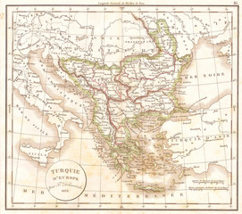 1832, Delamarche Map of Greece and the Balkans