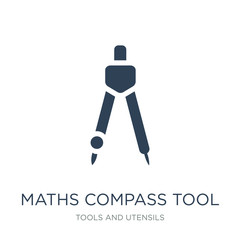 maths compass tool icon vector on white background, maths compass tool trendy filled icons from Tools and utensils collection, maths compass tool vector illustration